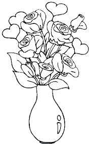 Coloring Pages With Flowers Flower Vase