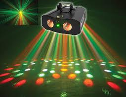 American DJ Galaxian Gem IR Dual RGBW Moonflower Green Laser Club