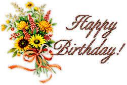 Free Birthday Clipart Animations happy birthday flowers