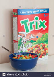 A Box And Bowl Of Trix Cereal