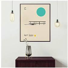 bauhaus exposición farnsworth house poster minimal canvas print arquitectura abstracta pintura cuadro de pared para sala de estar 50x60cm