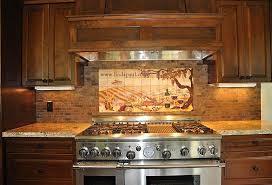 Kitchen Remodel Designs Mural Backsplash