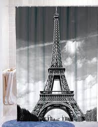 Paris Eiffel Tower Bathroom Accessories by Amazon Com Famous City Landmark Pattern Fabric Shower Curtain 72