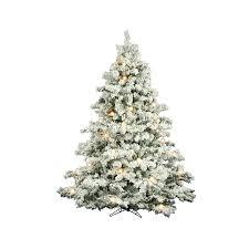Ge 75 Ft Christmas Trees by Flocked Pre Lit Christmas Tree Christmas Lights Decoration