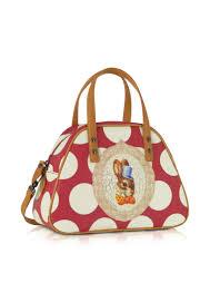 vivienne westwood yasmine bunny print small handbag in metallic lyst