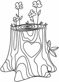Tree Trunk Coloring Page 17 Doodle