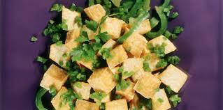 cuisiner les poivrons verts dés de tofu aux poivrons verts facile et pas cher recette sur