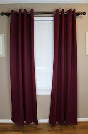Burgundy Grommet Blackout Curtains by Blackout Curtain Set Khaki Grommet Antique Bronze Topblinds