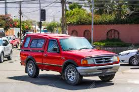 COPIAPO, CHILE - NOVEMBER 14, 2015: Red Pickup Truck Ford Ranger ... Grey Wildtrak Front Grill Facelift Ford Ranger Px2 Mk2 Truck 2015 2011 Price Photos Reviews Features Sports Pack Accsories New 2019 Pickup Revealed At Detroit Auto Show Business Spy News Car And Driver 2010 How The Compares To Its Midsize Rivals Concept Of The Week Ii Design What We Know About Allnew Pickup Revealed With 23liter Ecoboost Aero