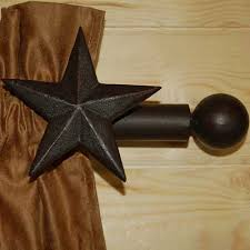 Our Western Star Curtain Rod Gives A Rugged Look That Was Designed To Fit Into Any Decor Features Two Brackets And Will