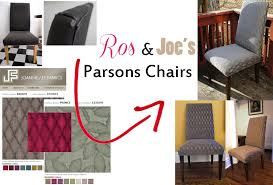 New Project: Ros & Joe's Parsons Chairs | Bespoke Life Ding Room Chairs Covers Dream Us 39 9 Top Grade How To Recover A Chair Hgtv Amazoncom Bed Bath Beyond Gold Floral Make Custom Slipcover College Dorm Registry Presidio Ding Chair Mullings Spindle Back
