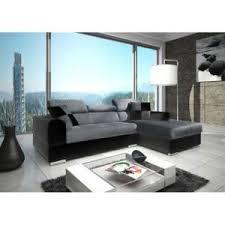 canapé design microfibre meublesline canapé d angle 4 places neto design gris et noir