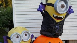 Halloween Airblown Inflatables by 2017 Gemmy Airblown Inflatable Halloween Gone Batty Minion Scene
