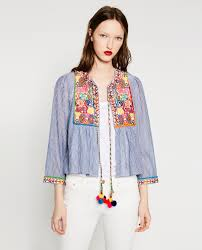 short embroidered jacket view all outerwear woman zara united