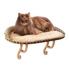 Kh Thermo Kitty Heated Cat Bed by Amazon Com K U0026h Manufacturing Deluxe Kitty Sill With Bolster Tan