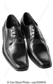 Black Mens Dress Shoes Stock Photo