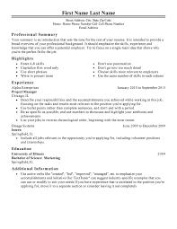 Free Professional Resume Templates
