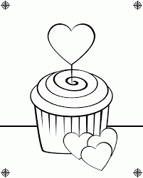 Cupcake Coloring Pages and Book