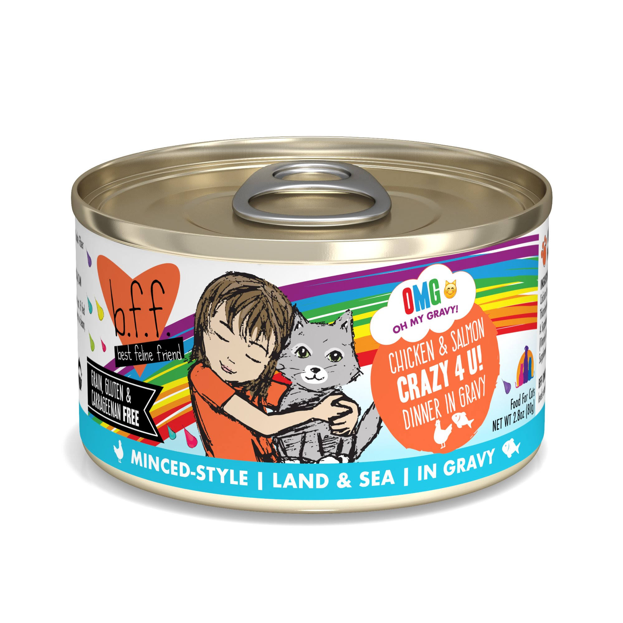 Weruva B.f.f. Cat Food OMG Crazy 4 U! 2.8 oz 12 Count