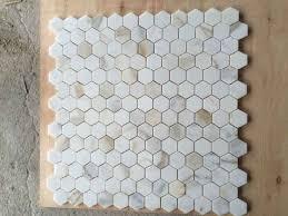 china hexigon calacata goldmarmor mosaik und badezimmer