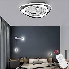 hzj deckenventilator mit licht und fernbedienung leise led licht dimmbar einstellbare windrichtung moderne deckenleuchte für schlafzimmer