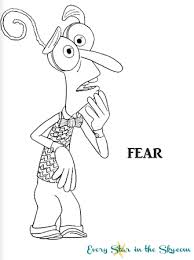 Inside Out Fear Coloring Page