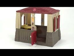 Step2 Happy Home Cottage U0026 by Step2 Neat U0026 Tidy Cottage Red Roof Youtube