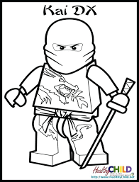 Ninjago Kai Zx Coloring Pages Unique Lego Cole Johnnyherbertfo Pics
