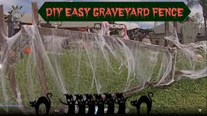 Halloween Cemetery Fence by Diy Easy Graveyard Fence Youtube