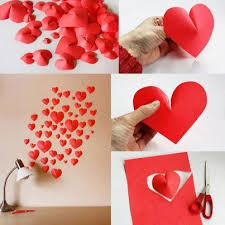 Diy Heart Decor Add A Little Love To Different Spaces Of The Home Via Wall Mounted Paper Hearts