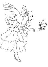 Full Image For Fairy And Butterfly Coloring Page Free Pages