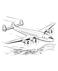 Down Airplane Coloring Pages