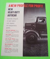 100 Big Rig Truck Sales Ca 1962 AUTOCAR SERIES DCV BIG RIG TRUCK DEALER PARTCOLOR BROCHURE