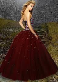 Woman Beautiful Red Gown Blonde Hair Vintage