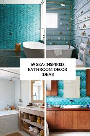 69 Sea-Inspired Bathroom Décor Ideas - DigsDigs Modern Guest Bathroom Coastal Vessel Sink Seaside Arstic 35 Cute And Sleek Ideas Decor With Excellent Surprising Nautical Ornaments For Grey Floor Fniture Des 25 Inspirational Theme Design Beachy Decorating Creative Decoration Beach House Decor Bm Fniture Coral Teal Awesome Best On Beach Themed Rooms Wall Small Mirror Vanity 2perfection Basement Reveal