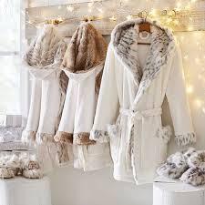 Faux Fur Hooded Robe