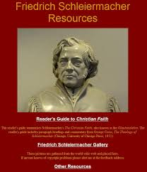 Furnished By Students In The Boston University Seminar On Schleiermacher Main Features Are Readers Guide To Christian Faith And A