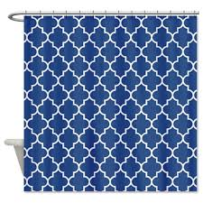 Navy Geometric Pattern Curtains by Navy Blue Shower Curtains In 10 Awesome Patterned Designs Rilane