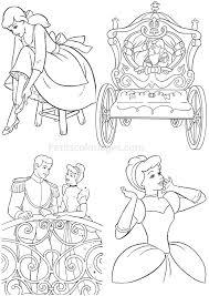 4 Coloriages Cendrillon Princesse Carrosse Prince Sur Concernant