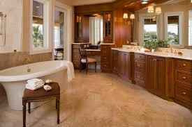 makeup vanities in bathroom traditional with crema pearl granite