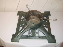 Antique Christmas Tree Stand Vintage Cast Iron