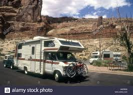 100 Vans Homes Mobile Camper Parked In A CarparkIn Arches National