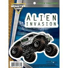 100 Monster Truck Decals Jam Alien Invasion Car Stickers Decalcomania