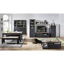 ess und wohnzimmer set jülich 36 in graphit grau und artisan eiche nb
