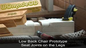 Maloof Rocking Chair Joints by Low Back Chair Prototype 4 Seat Joints On Legs Youtube