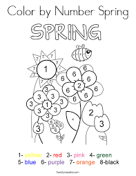 Spring Coloring Pages Toddlers
