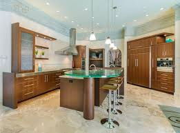 Contemporary Kitchen With Hampton Bay Nove 1 Light Brushed Nickel Mini Pendant Stone Tile