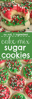 no roll 5 ingre nt} Cake Mix Sugar Cookies To her as Family