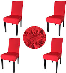 Gold Fortune Spandex Fabric Stretch Removable Washable Dining Room Chair  Cover Protector Seat Slipcovers Set Of 4 (Red) Amazoncom 6 Pcs Santa Claus Chair Cover Christmas Dinner Argstar Wine Red Spandex Slipcover Fniture Protector Your Covers Stretch 8 Ft Rectangular Table 96 Length X 30 Width Height Fitted Tablecloth For Standard Banquet And House 20 Hat Set Everdragon Back Slipcovers Decoration Pcs Ding Room Holiday Decorations Obstal 10 Pcs Living Universal Wedding Party Yellow Xxxl Size Bean Bag Only Without Deisy Dee Low Short Bar Stool C114 Red With Green Trim Momentum Lovewe 6pcs Nordmiex Spendex 4 Pack Removable Wrinkle Stain Resistant Cushion Of Clause Kitchen Cap Sets Xmas Dning