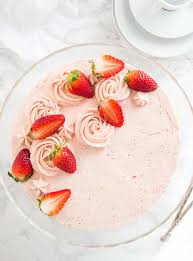 This homemade Strawberry Cake Recipe is bursting with fresh strawberry flavor and made pletely from scratch